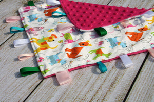 Dog Colourful Taggy Blanket