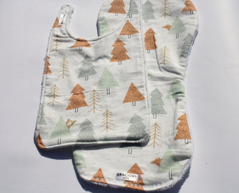 Bib and Burp Cloth - Trees