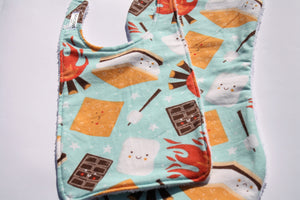 Bib and Burp Cloth - Smores