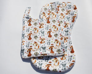 Bib and Burp Cloth - Dogs