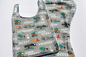 Bib and Burp Cloth - HONK! BEEP!