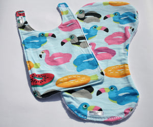 Bib and Burp Cloth - Pool Floaties