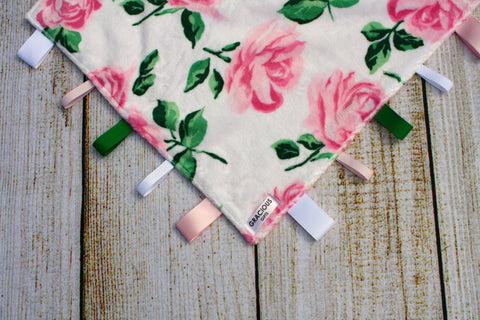 Girl Pink Rose Taggy Blanket
