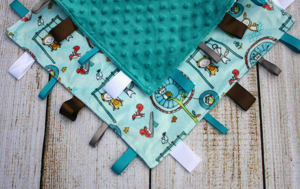 Playground Blue Taggy Blanket