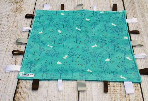 Rabbit and Tree Taggy Blanket