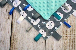 Rabbit Grey Taggy Blanket