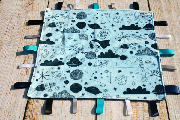 Boy Space Taggy Blanket