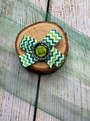 Pinwheel Chevron ( Kiss Me I'm Irish) Bow Clip