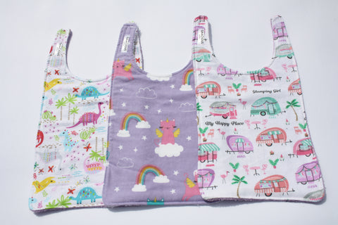Long Bib Set - Dino/Unicat/Glamping