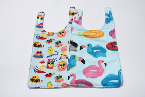 Long Bib Set - Summer Food/Pool Floaties