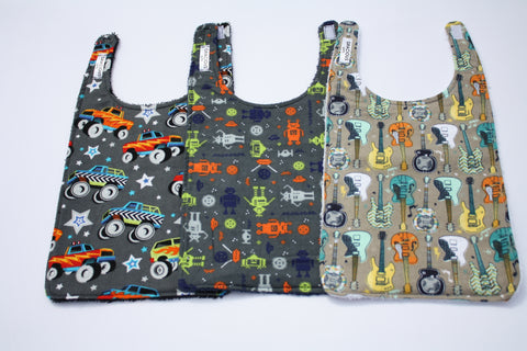 Long Bib Set - Monster Truck/Robot/Guitar