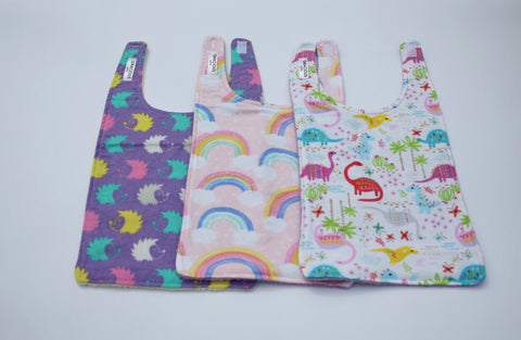 Long Bib Set - Hedgehog/Rainbow/Dino