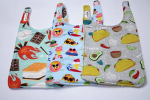 Long Bib Set - Smores/Summer Food/Taco