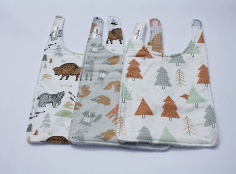 Long Bib Set - Buffalo/Woodland/Trees