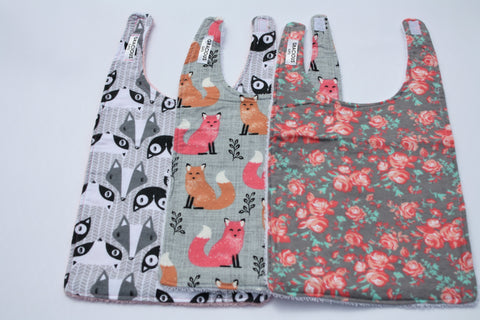 Long Bib Set - Girl Fox/Floral