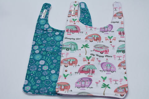Long Bib Set - Floral/Glamping