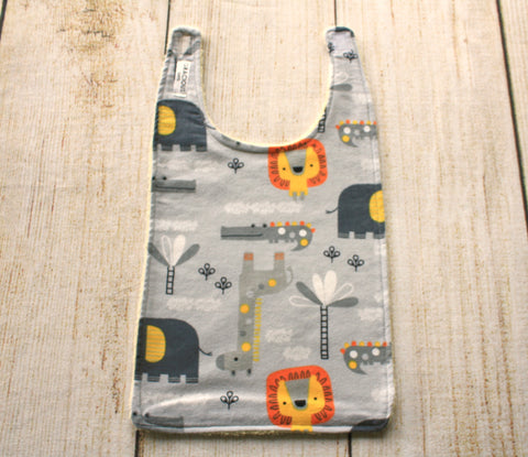 Jungle Grey Long Bib