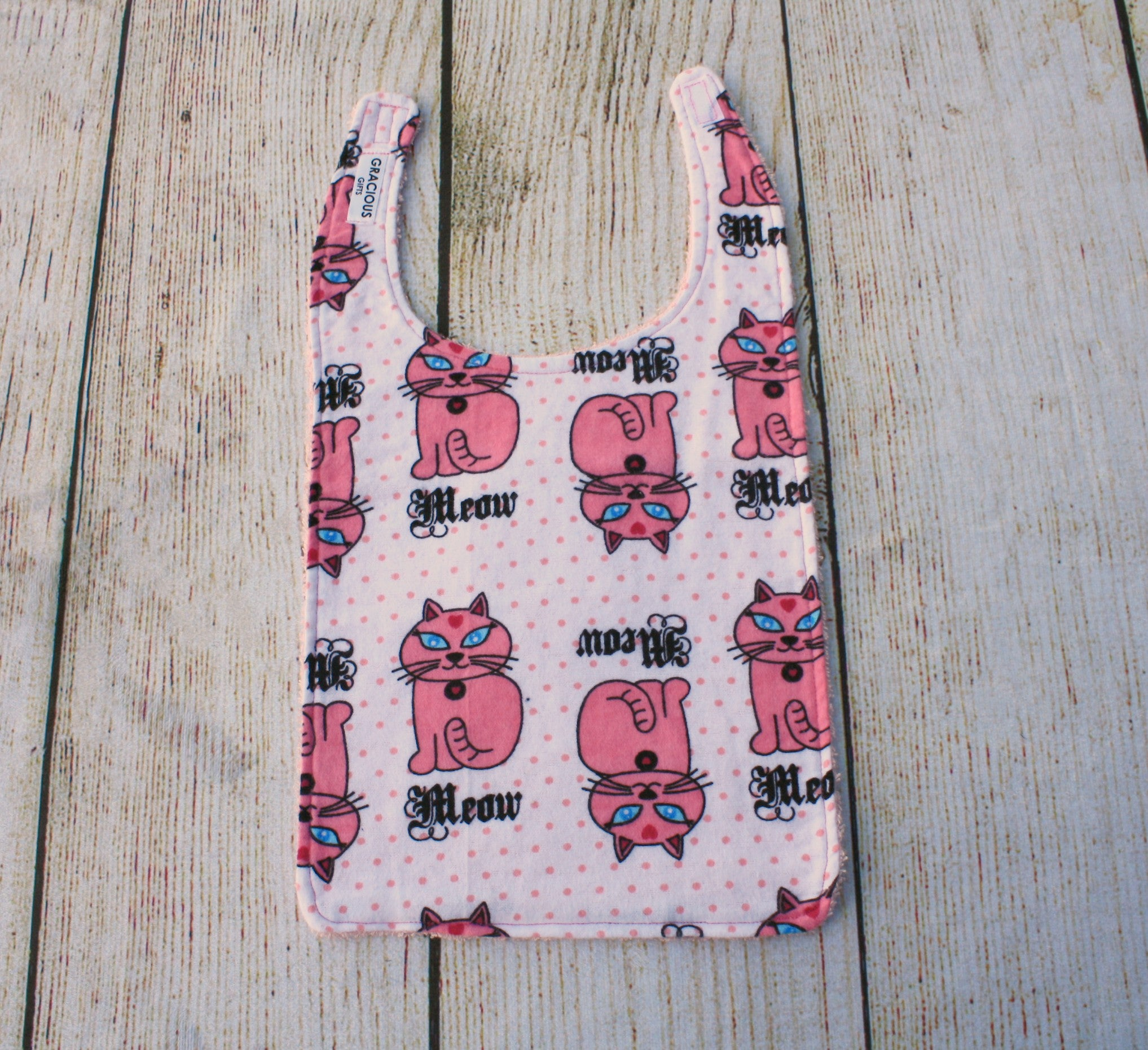 Cat Meow Long Bib