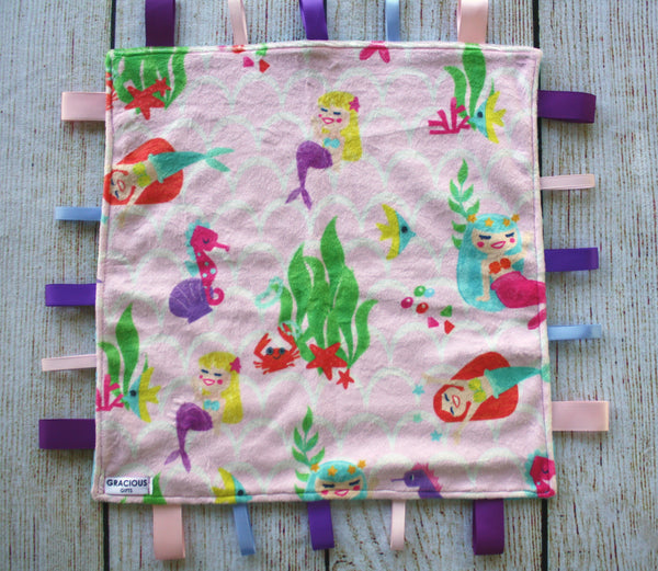 Mermaid Taggy Blanket