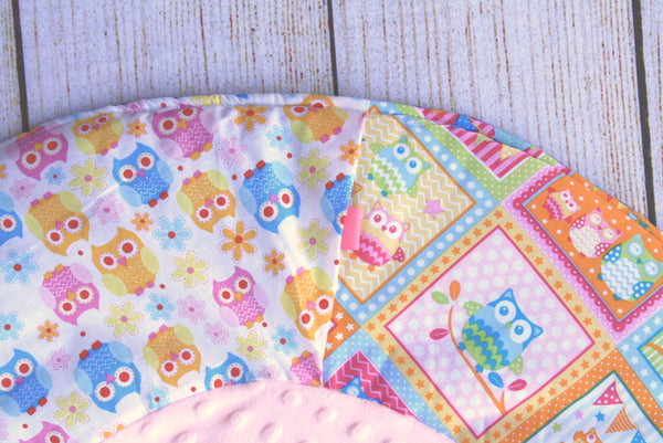 Owls Colourful Travel Playmat