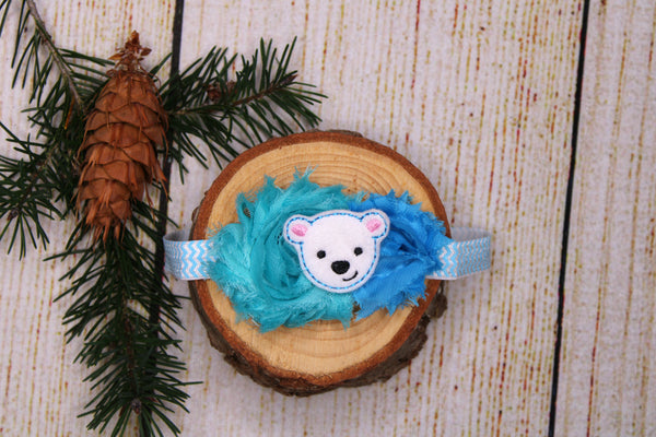 Polar Bear Headband 0-3 Months