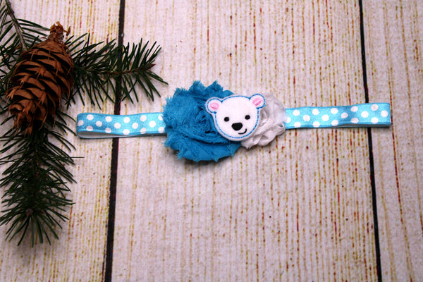 Polar Bear Headband 18-24 Months
