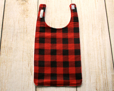 Red Buffalo Plaid Long Bib
