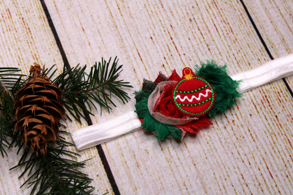 Red Ornament Headband 18-24 Months