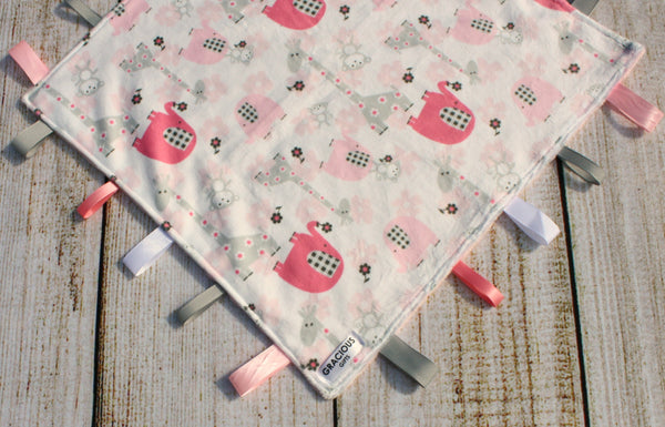 Safari Pink Taggy Blanket