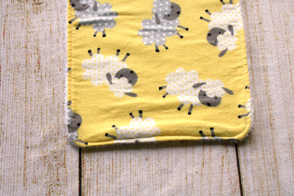 Sheep Yellow Long Bib