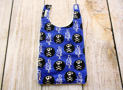 Skull Blue Long Bib