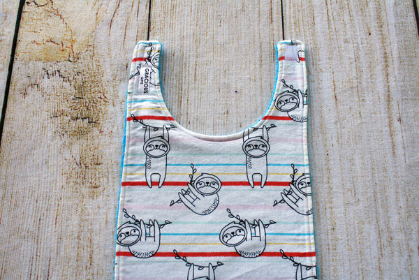 Sloth Sketch Long Bib