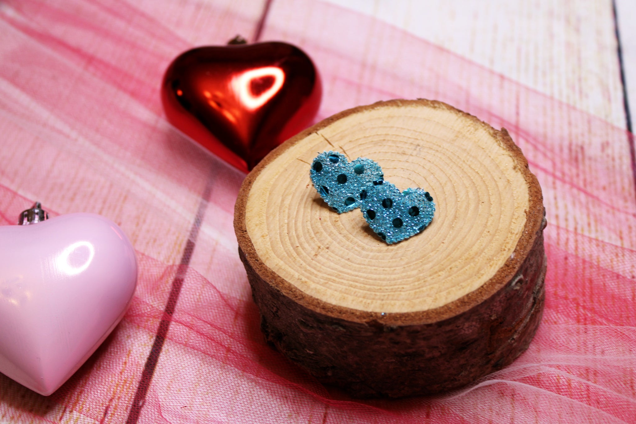 Small Blue Heart Clips