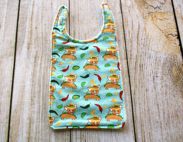 Taco Dog Long Bib