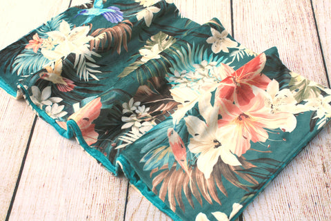 Floral Tropical Blanket