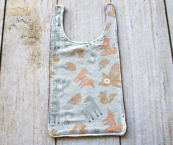 Woodland Grey Long Bib