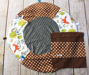 Woodland Polka Dot Travel Playmat