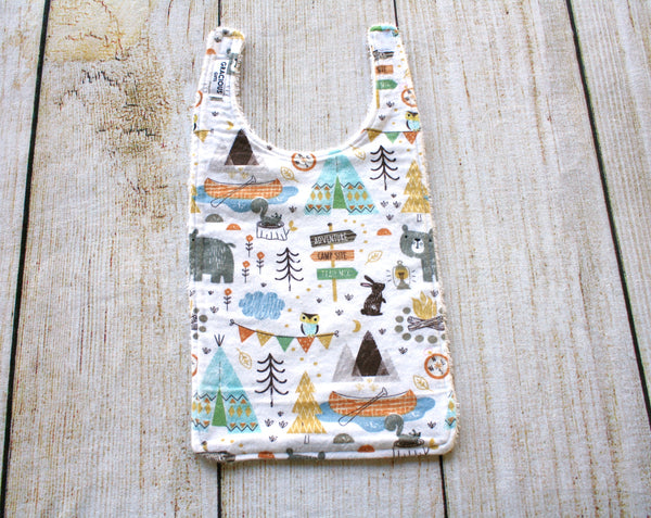 Woodland Camping Long Bib