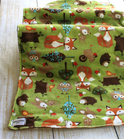 Woodland Green Blanket