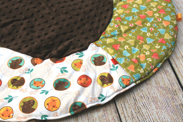 Woodland Mushrooms Travel Playmat