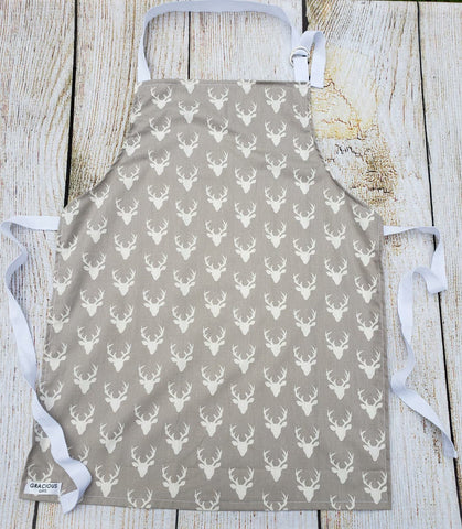 Little Helper Apron - Grey Deer