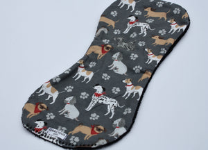 Burp Cloth - Grey Dog