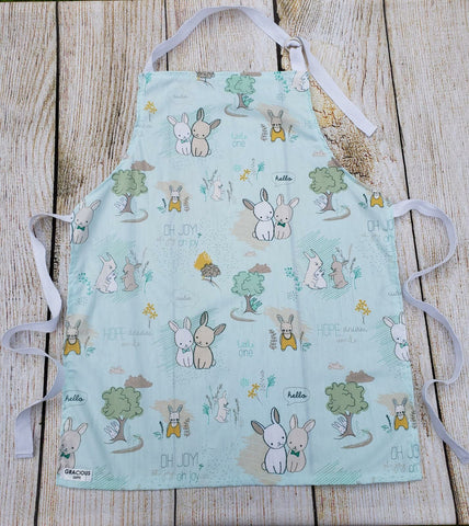 Little Helper Apron - Mint Rabbit