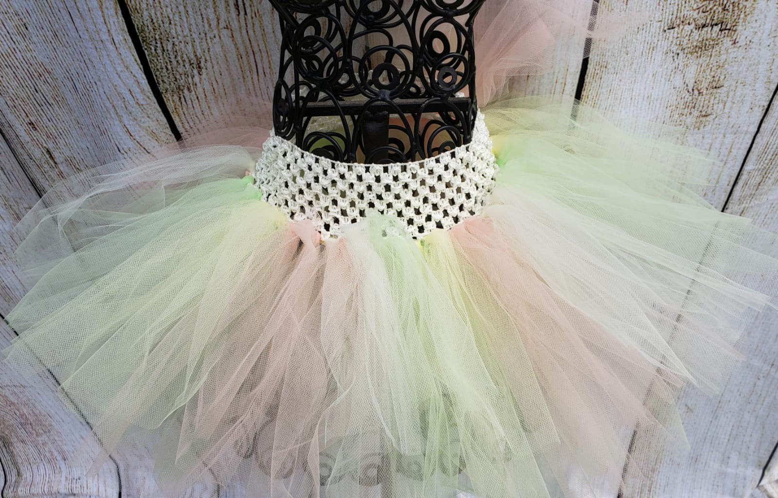 Pink/Green/Yellow/Ivory Tutu