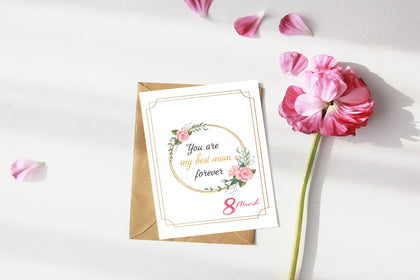 Greeting Cards For Mom, You Are My Best Mom Forever, Mothers Day Cards, Card for Mum, Printable, INSTANT DOWNLOAD