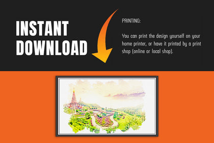 Pangoda Doi Inthanon Paintings, Canvas Designs, Painting Canvas Designs, Printable Art Designs