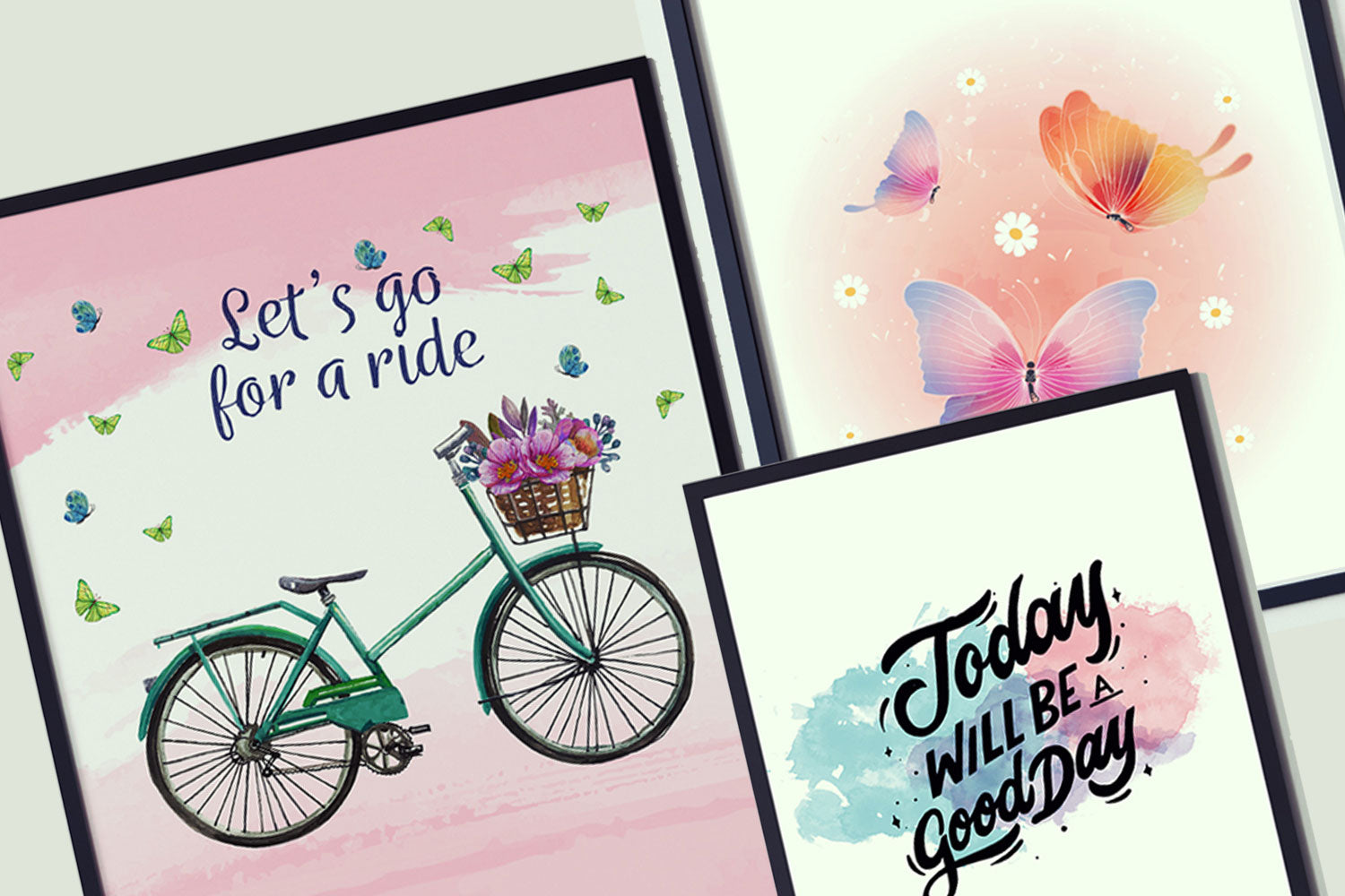 Good Day Canvas Pictues, Let Go For A Ride, Painting Canvas Designs, Art Design,  Printable Arts