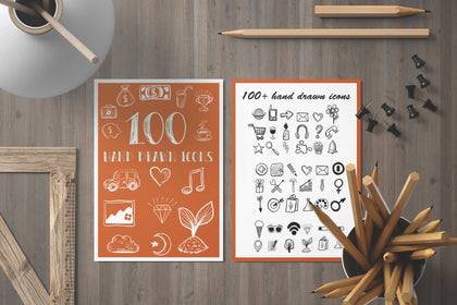 100+ Powerpoint Icons, Free Vector Icons, Set Hand Drawn Icons For Presentations, Wedding Blogs, Planners, Social Campaigns, Social Sites