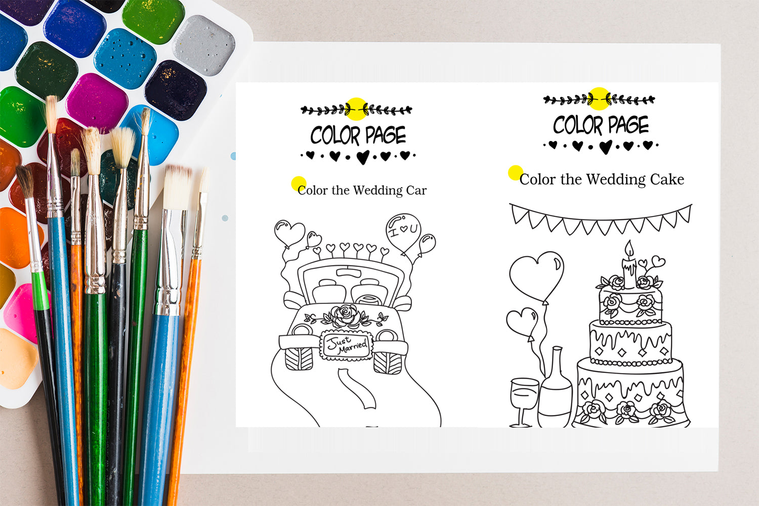 Kids wedding activity coloring book, wedding activities for kids