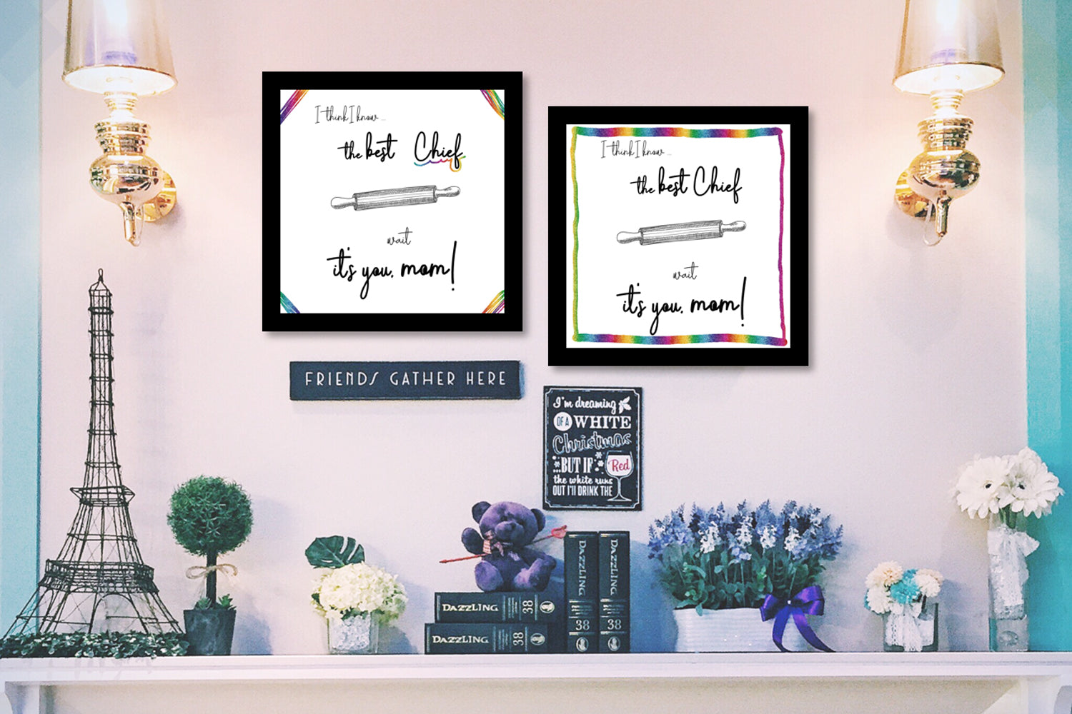 Canvas Picture, A words canvas to your beloved mom, Instant Download